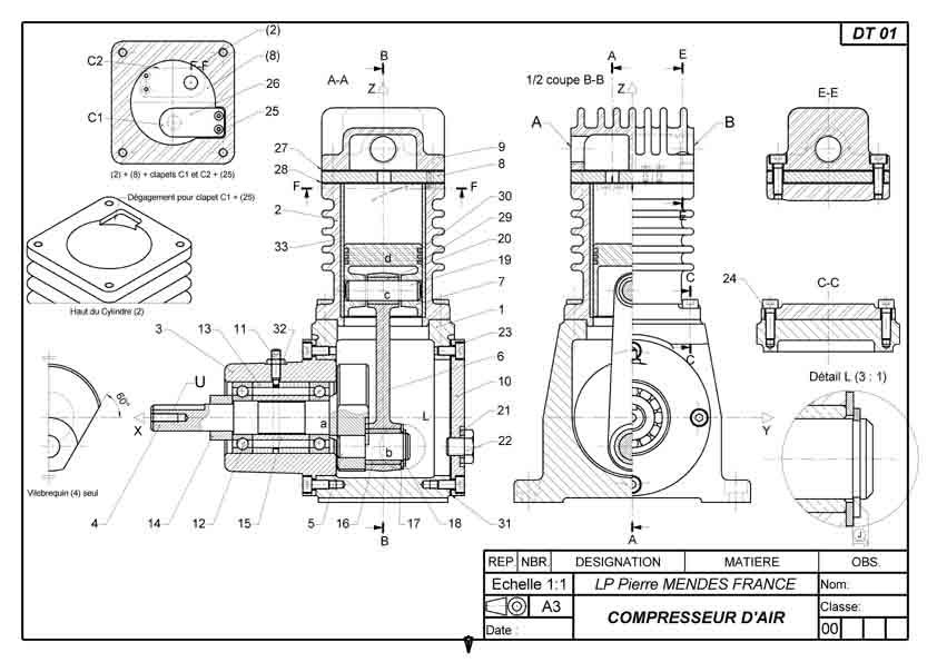 Td - Exercice dessin industriel coupe et section ...